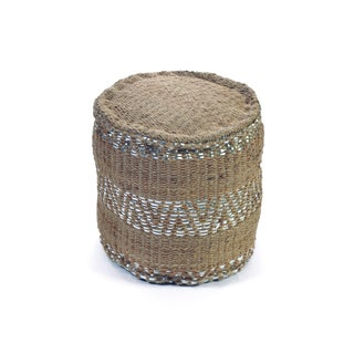 Silver Lining Rope Pouf