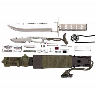 Deluxe Survival Combat Knife Set 12-piece by Maxam