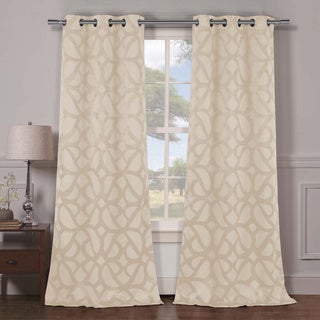 Duck River Charlotte Blackout Grommet Curtain Panel Pair in Champagne (As Is Item)