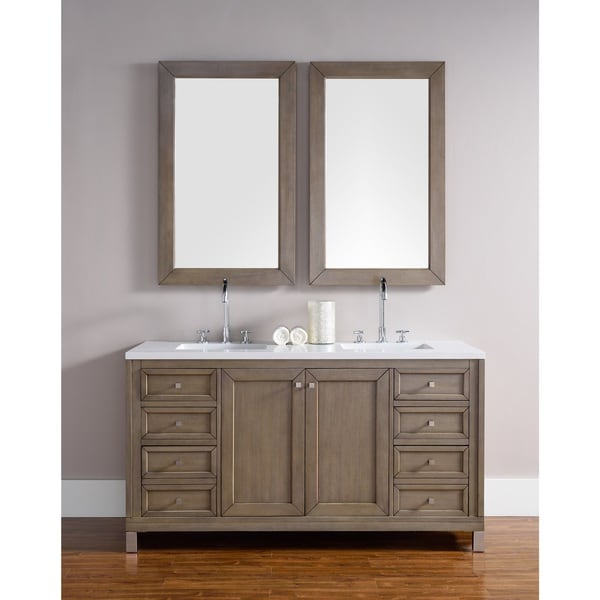 60 Inch Double Sink Vanity In White Washed Walnut Free Shipping Today 18582513