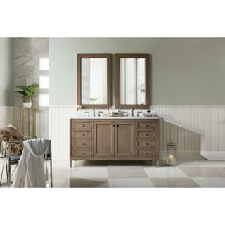 "Link to Chicago 60"" Double Vanity, White Washed Walnut Similar Items in Bathroom Vanities"