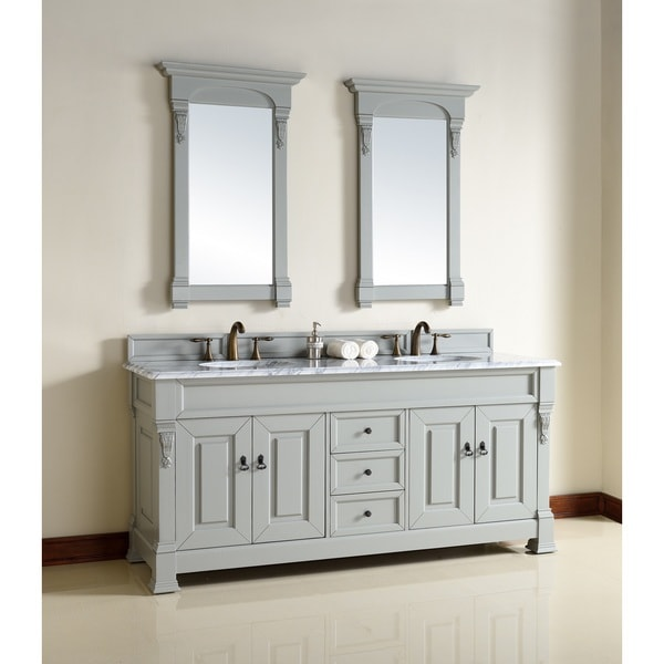 72 double sink bathroom vanity shop 72 inch grey sink vanity free shipping today 21874