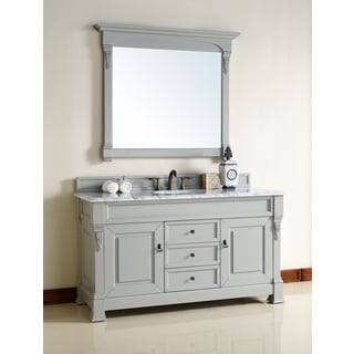 "Brookfield 60"" Urban Gray Single Vanity cabinet"