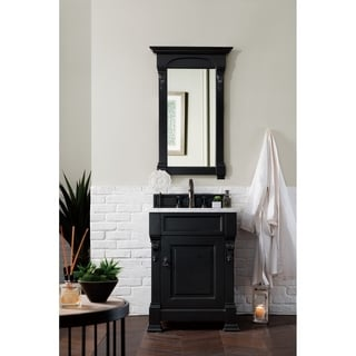 "Brookfield 26"" Black Antique Single Cabinet"