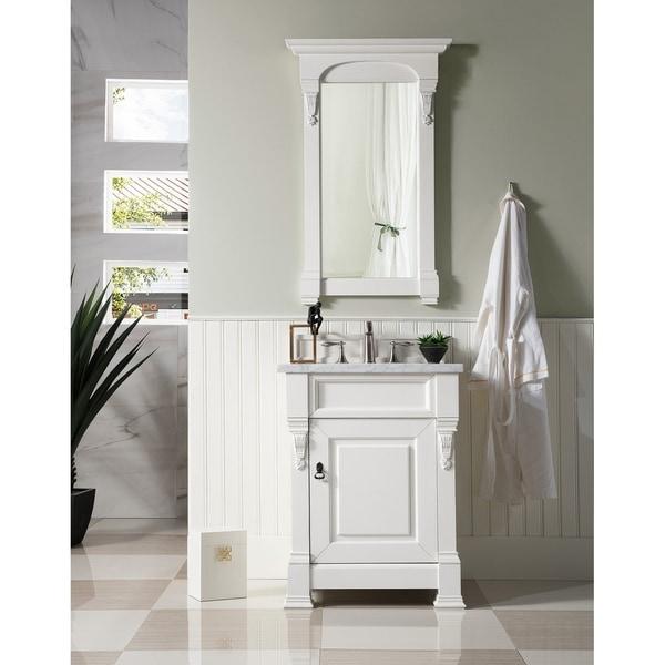 "Brookfield 26"" Single White Cottage Vanity cabinet"