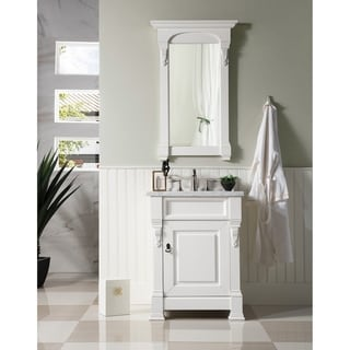 "Brookfield 26"" Single White Cottage Vanity cabinet"