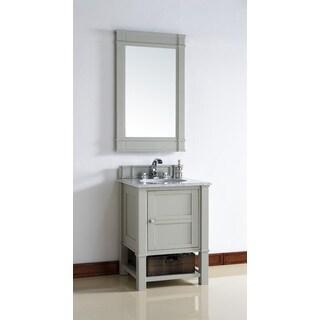 26 Inch Single Sink Vanity in Grey
