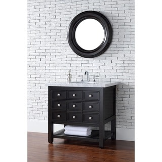 36 Inch Single Sink Vanity with Drawers in Oak with Dark Brown Finish