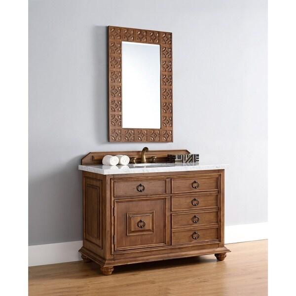 65 Inch Bathroom Vanity Single Sink: Shop 48 Inch Single Sink Vanity With Brown Finish