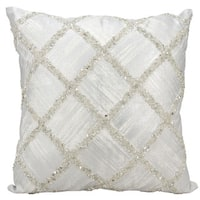 kathy ireland Beaded Diamonds Silver Throw Pillow (20-inch x 20-inch) by Nourison