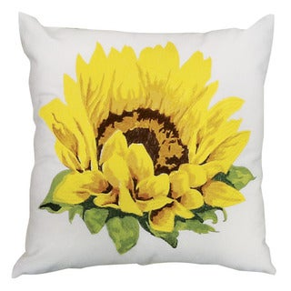kathy ireland Sunflower White Throw Pillow (18-inch x 18-inch) by Nourison