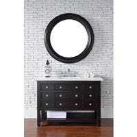 "Vancouver 48"" Single Vanity w/Drawers, Cerused Espresso Oak"