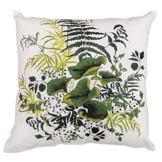 kathy ireland Lily Pads White Throw Pillow (20-inch x 20-inch) by Nourison