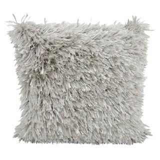 kathy ireland Medlay Soft Shag Silver Throw Pillow (20-inch x 20-inch) by Nourison