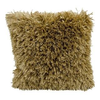 kathy ireland Medlay Soft Shag Gold Throw Pillow (20-inch x 20-inch) by Nourison