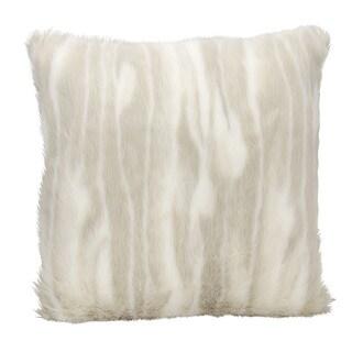 kathy ireland Beige Throw Pillow (20-inch x 20-inch) by Nourison