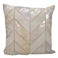 kathy ireland Metallic Chevron White/Silver Throw Pillowby Nourison (20-Inch X 20-Inch)
