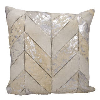 kathy ireland Metallic Chevron White/Silver Throw Pillowby Nourison (20-Inch X 20-Inch)