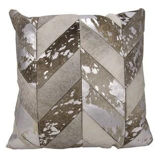 kathy ireland Metallic Chevron Silver/Grey Throw Pillow (20-inch x 20-inch) by Nourison