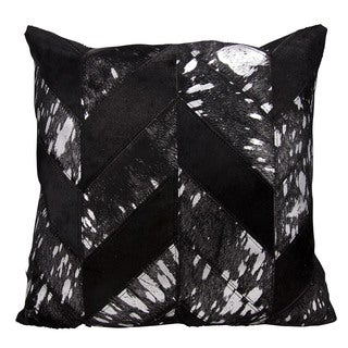 kathy ireland Metallic Chevron Black/Silver Throw Pillow (20-inch x 20-inch) by Nourison