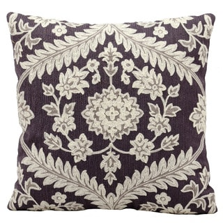 kathy ireland Dynasty Grey Throw Pillow (18-inch x 18-inch) by Nourison