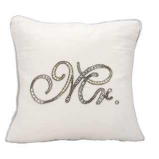 kathy ireland Beaded Mr. White Throw Pillowby Nourison (14-Inch X 14-Inch)