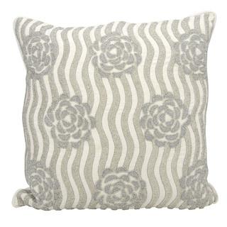 kathy ireland Rose Garden Silver Throw Pillow (20-inch x 20-inch) by Nourison