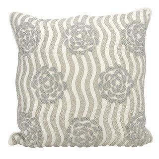 kathy ireland Rose Garden Silver Throw Pillowby Nourison (20-Inch X 20-Inch)