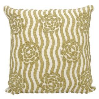 kathy ireland Rose Garden Gold Throw Pillow (20-inch x 20-inch) by Nourison