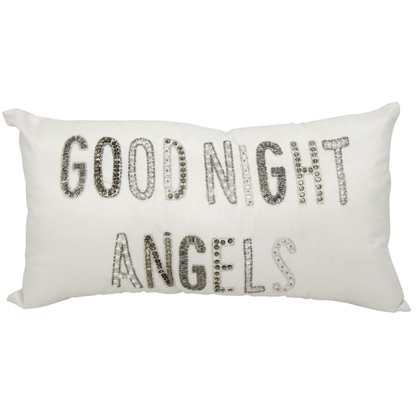 kathy ireland Goodnight Angels White Throw Pillowby Nourison (12-Inch X 22-Inch)