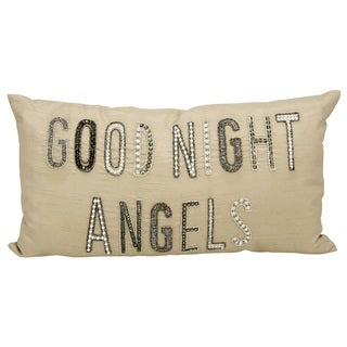 kathy ireland Goodnight Angels Champagne Throw Pillow (12-inch x 22-inch) by Nourison