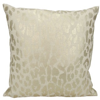 kathy ireland Metallic Leopard Gold Throw Pillow (18-inch x 18-inch) by Nourison
