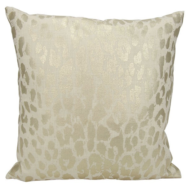 kathy ireland Metallic Leopard Gold Throw Pillowby Nourison (18-Inch X 18-Inch)
