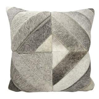 Mina Victory Diamond Stripes Light Grey 20 x 20-inch Throw Pillow by Nourison