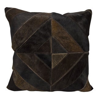 Joseph Abboud Diamond Stripes Dark Brown Throw Pillow (20-inch x 20-inch) by Nourison