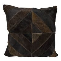 Mina Victory Diamond Stripes Dark Brown Throw Pillow by Nourison (20-Inch X 20-Inch)