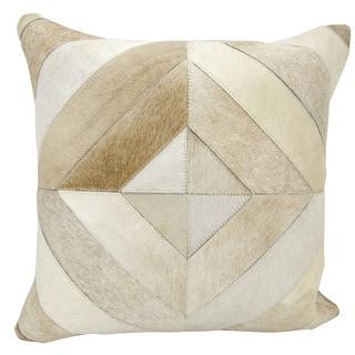 Mina Victory Diamond Stripes Beige 20 x 20-inch Throw Pillow by Nourison