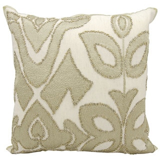 kathy ireland Organic Collage Gold Throw Pillow (20-inch x 20-inch) by Nourison