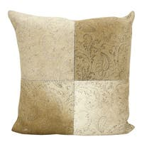 Mina Victory Floral Imprint Beige Throw Pillow by Nourison (20-Inch X 20-Inch)