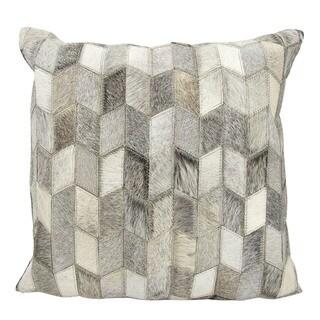 Mina Victory Arrowhead Chevron Light Grey 20 x 20-inch Throw Pillow by Nourison