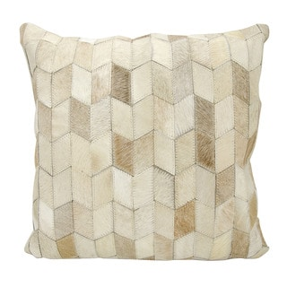 Mina Victory Arrowhead Chevron Beige 20 x 20-inch Throw Pillow by Nourison