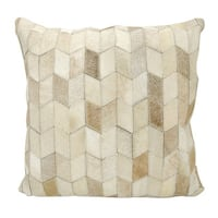 Mina Victory Arrowhead Chevron Beige 20 x 20-inch Throw Pillow by Nourison