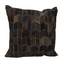 Mina Victory Arrowhead Chevron Dark Brown 20 x 20-inch Throw Pillow by Nourison