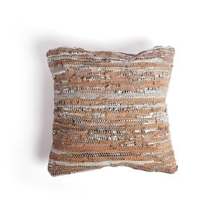 Alda Throw Pillow with Distressed Design