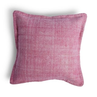 Pink Emery Throw Pillow