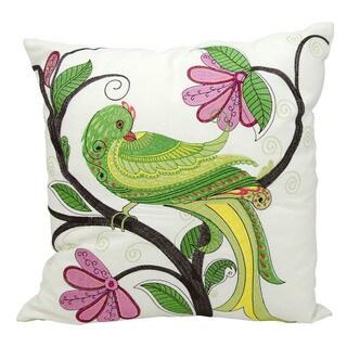 kathy ireland Whimsical Bird White Throw Pillowby Nourison (18-Inch X 18-Inch)