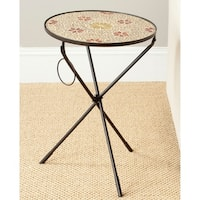 Safavieh Cymbeline Gold Glass Side Table