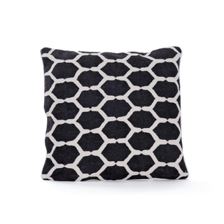 Hip Vintage Black Print Dixie Throw Pillow