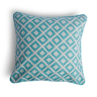 Hip Vintage Blue Print Darby Throw Pillow