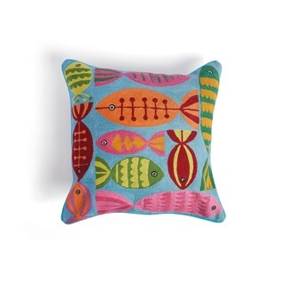 Hip Vintage Print Pesce Accent Pillow